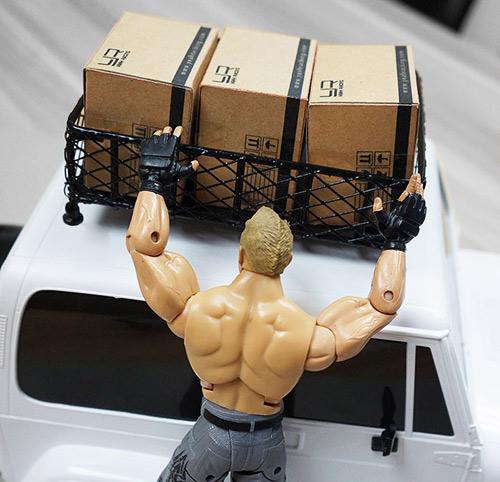 Yeah Racing 1/10 RC Rock Crawler Accessories Metal Mesh Wire Luggage Tray Type D (13cm X 10cm X 3.5cm) #YA-0404