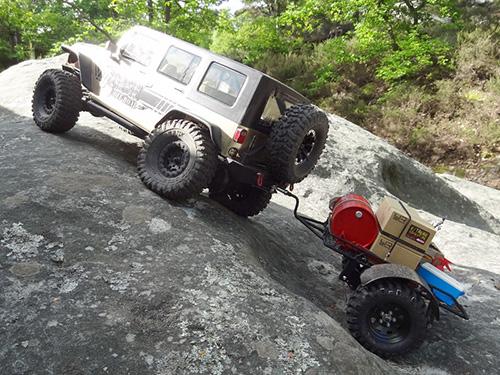 Yeah Racing 1/10 Metal Leaf Spring Hitch Mount Trailer For Crawler #YA-0405