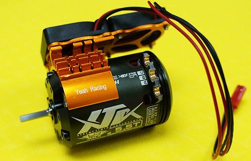 Yeah Racing Aluminum 540 Brushless Motor w/ Cooling Twin Fan Heat Sink Orange #YA-0408OR