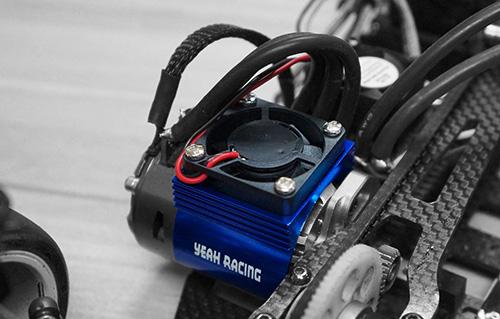 Yeah Racing Aluminum 540 Motor Heat Sink w/ Cooling Fan BU