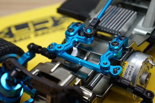 Yeah Racing Aluminum Steering Set w/ Ball Bearing For Tamiya M05 M06 #TAMC-006BU
