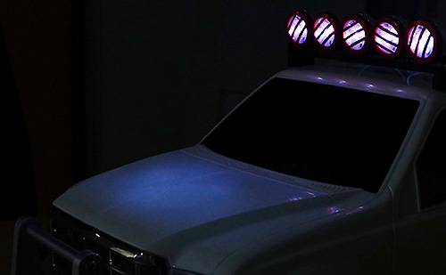 Yeah Racing 1/10 Aluminum Roof 5 White LED Light Set Black For RC Truck Crawler