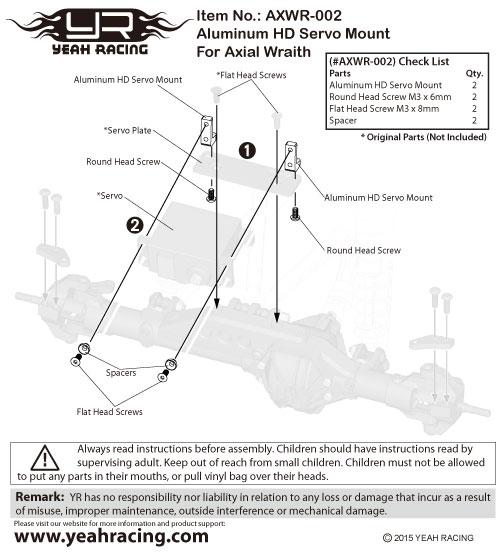 Yeah Racing Aluminum HD Wheel Hub For Axial Wraith #AXWR-002