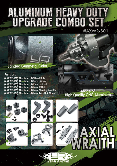 *Yeah Racing Aluminum Heavy Duty Upgrade Combo Set S01 For Axial Wraith #AXWR-S01