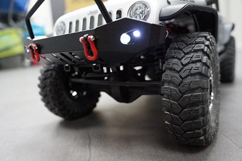 Yeah Racing Front Rear Bumper w/ Heavy Duty Shackle w/ LED Set For Axial SCX10 #YA-0382