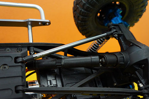 Yeah Racing Threaded Aluminum Link Pipe 6x45mm 2pcs GunMetal For 1/10 Crawler #YA-0424