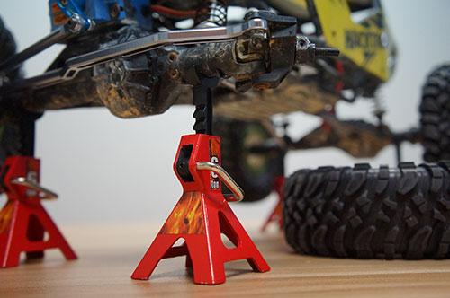 Yeah Racing 1/10 RC Rock Crawler Accessory Height adjustable 6 Ton Jack 2pcs #YA-0374