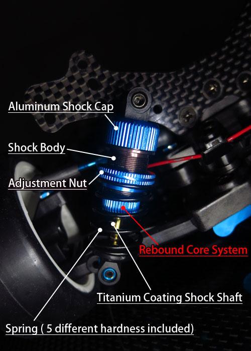Yeah Racing Shock-Gear Damper Set for 1:10 RC Touring Car #DSG-0050