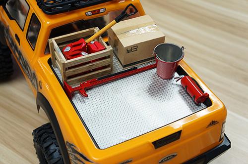 Yeah Racing Steel Diamond Plate Accessory Type A 14cm X 20cm For Crawler Tractor Truck #YA-0458