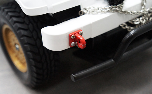 Yeah Racing 1/10 RC Rock Crawler Accessories Heavy Duty Four Bolt Lunette Ring Tow Hook Red