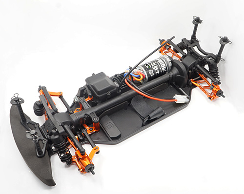 Yeah Racing Aluminum Essential Conversion Kit For HPI RS4 Sport 3 Orange