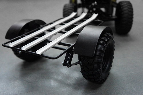 Yeah Racing 1/10 Scale Leaf Sprung Steel Trailer with Hitch Mount For Crawler