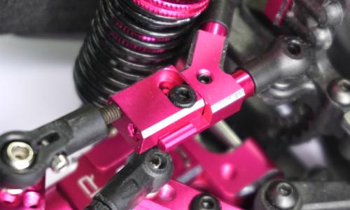 Yeah Racing Aluminum D4 Steering & Suspension Upgrade Kit For 3Racing Sakura D4 AWD RWD Pink #SKD4-S01PK