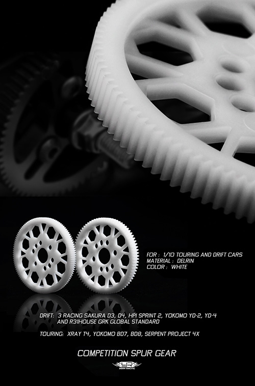 Yeah Racing Competition Delrin Spur Gear 48P 64P Touring Drift 1/10