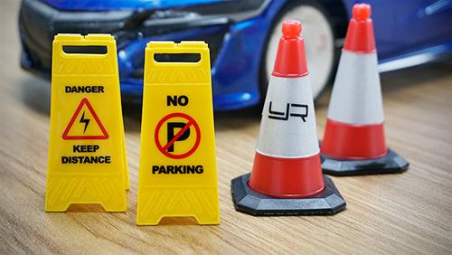 Yeah Racing 1/10 Scale Traffic Sign Acessory 6pcs #YA-0542