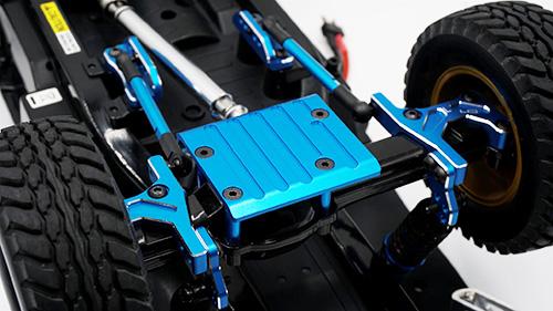 Yeah Racing Aluminum Rear Axle Protector Skid Plate For Tamiya CC01 Blue #TACC-007BU
