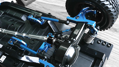 Yeah Racing Aluminum Four Link Essentials Conversion Kit For Tamiya CC01 Blue #TACC-S01BU