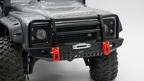 Yeah Racing Aluminum Alloy Front Bumper w/LED Light For Traxxas TRX-4 Axial SCX10 / II Black #TRX4-032BK