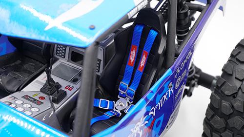 Yeah Racing 1/10 RC Scale Accessory Safety Belt Black #YA-0558BK