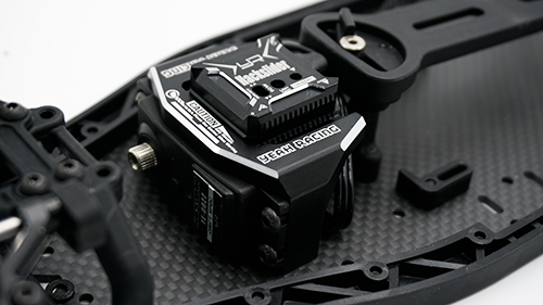 Yeah Racing Aluminum Servo and Gyro Mount For Yokomo YD2 Black #YKYD-012BK