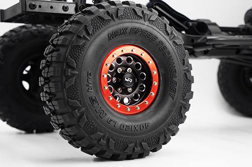 Yeah Racing 1.9 Aluminum CNC F-RG Beadlock Wheel w/Wheel Hub 2pcs Blue #WL-0117BU