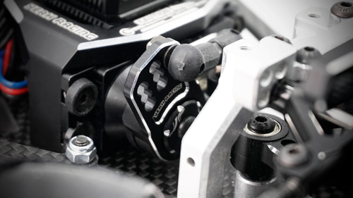 Yeah Racing Aluminum Plate Servo Saver Black #YA-0557BK