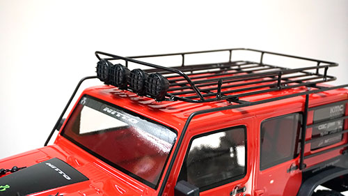 Yeah Racing Metal Roll Cage w /Luggage Tray & White Led Light For Jeep Wrangler Body #YA-0561