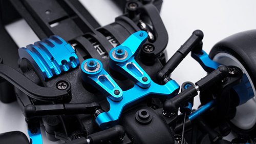 Yeah Racing Aluminum Ball Bearing Steering Rack Set Blue For Tamiya M07 #TAMC-035BU