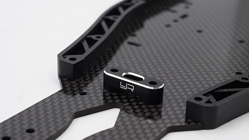Yeah Racing Aluminum Steering Base for Yokomo YD2/YD2S Black #YKYD-014BK