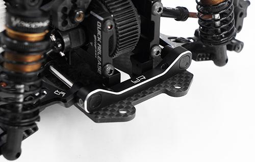 Yeah Racing Aluminum Adjustable Lower Suspension Mount Set for Yokomo YD2 YD2S Black #YKYD-024BK