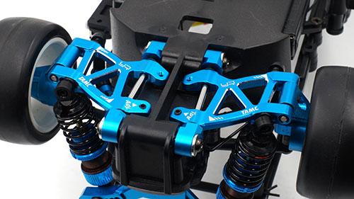 Yeah Racing Aluminum Rear Skid Angle Adjust Suspension Mount For Tamiya M07 Blue #TAMC-034BU