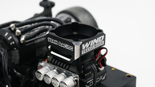 Yeah Racing Aluminum 30mm Cooling Fan Booster Type A Black #YA-0559BK