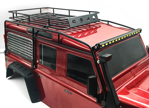 Yeah Racing Metal Roll Cage w/ Luggage Tray & Super Bright LED Light Bar For Traxxas TRX-4 D110 #TRX4-051
