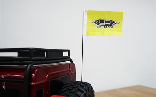 Yeah Racing Metal Antenna w/Flag For Traxxas TRX-4 #TRX4-052