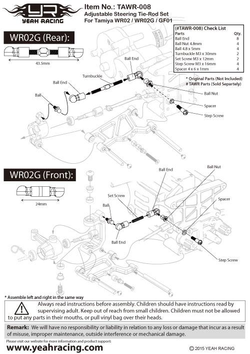 Yeah Racing WR02 WR02G GF01