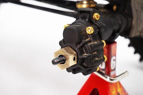 Yeah Racing 12mm Brass Hex Adaptor 8mm Offset 4pcs For Traxxas TRX-4 #TRX4-037