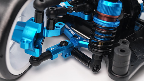 Yeah Racing Aluminum Track Width Adjustable Front Lower Suspension Arm for Tamiya TT02D TATT-S03 Blue #TATT-009BU
