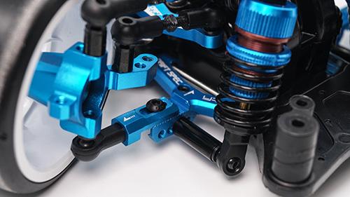 Yeah Racing Aluminum Track Width Adjustable Front Lower Suspension Arm for Tamiya TT02D TATT-S03 Blue #TATT-009BU