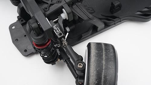 Yeah Racing Aluminum Steering Knuckle Set For MST RMX2.0 FMX2.0 Black #MRMX-001