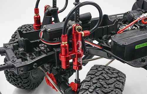 Yeah Racing 90mm Desert Lizard Piggyback Internal Spring Damper Red #DDP-090RD