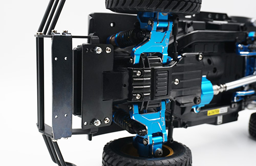 Yeah Racing Aluminum Alloy Adjustable Front Bumper Black For Tamiya CC01 #TACC-016BK
