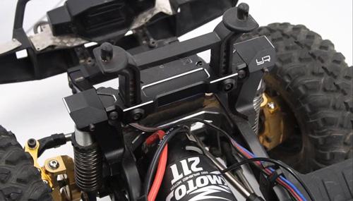 Yeah Racing Aluminum Upgrade Parts Set For Traxxas TRX-4 Black #TRX4-S03BK