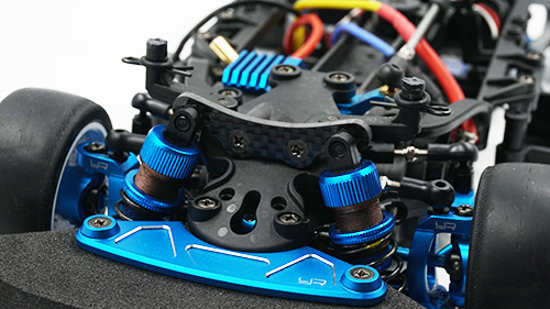 Yeah Racing Carbon Front Damper Stay for Tamiya M07 #TAMC-058