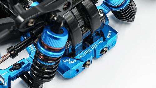 Yeah Racing Aluminum Rear Adjustable Suspension Mount For TT-02 RWD Drift TATT-S03 Blue #TATT-019BU