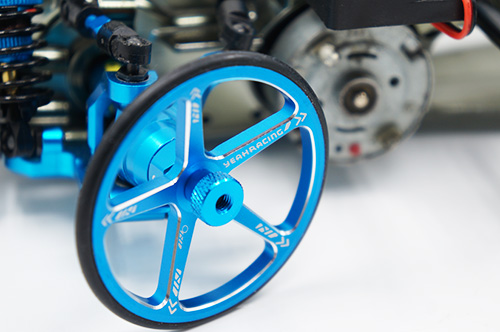 Yeah Racing Aluminum Set Up Wheels For 1:10 M Chassis Blue