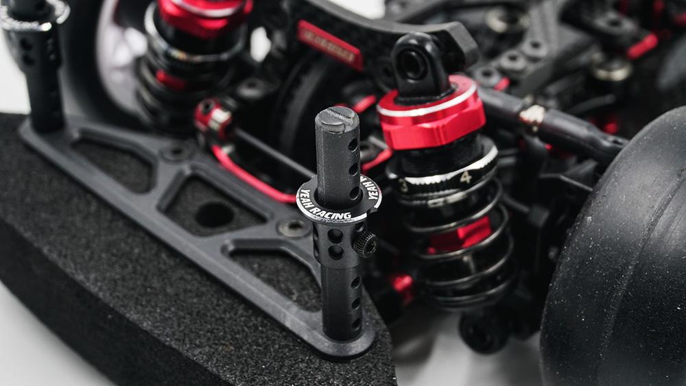 Yeah Racing Aluminum Adjustable Body Mounts 4pcs Black #YA-0530BK