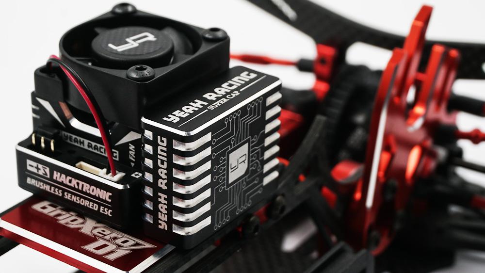 Yeah Racing Aluminum Case Hyper Booster Capacitor For RC Car Black #YE-0027BK