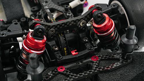 Yeah Racing QUTUS Damper Set for 1/10 RC Touring M-Chassis Car Black #DBB-2050BK