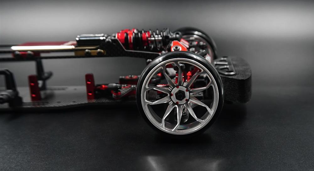 Yeah Racing Spec D Plus Aluminum 7075 6 Spoke +6 Offset Rim 2 pcs #WL-0128SV