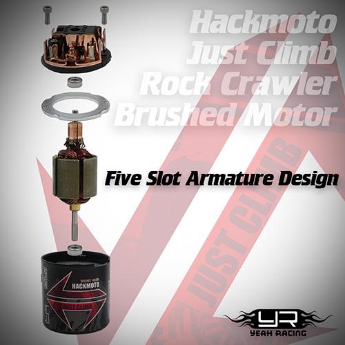 Hackmoto Just Climb Rock Crawler Brushed Motor